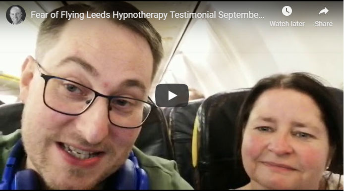 Fear of flying hypnotherapy testimonial Goole video image